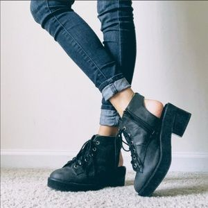 Jeffrey Campbell + Free People Cutout Combat Boots